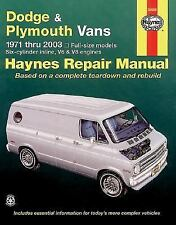 Haynes Repair Manuals Dodge & Plymouth Vans, 71-03 (Excludes information specif