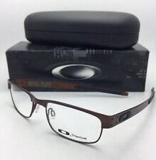 New OAKLEY Titanium Eyeglasses METAL PLATE 22-201 53-18 140 Dark Brown Frames