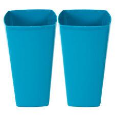 2 x 29cm Blue Square INDOOR PIANTE VASI DI FIORI VASI copre fioriere vasche