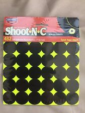 1 inch targets Birchwood Casey Shoot N C  Rifle and Pistol use high viz blk/yel