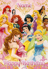 Disney Princess Group **Personalised Birthday Card** Any Name/Age A5 (P13)