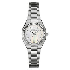 Bulova Women's 96R199 Diamond Bezel Quartz Stainless Steel Dress Watch