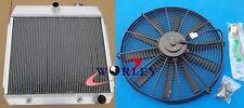 ALUMINUM RADIATOR + Fan FOR 1955-1957 1956 CHEVY BEL AIR V8 W/COOLER 55 56 57