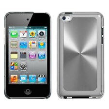 For Apple iPod Touch 4 HARD Protector Metal Cosmo Case Snap Cover Silver Cosmo