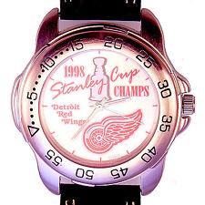 Detroit Red Wings, Stanley Cup Hockey Sportivi Unworn NHL Mans Vintage Watch $79