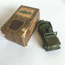 Vintage Benbros Toys No. 13 Austin Champ Military Green Boxed