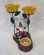 """Yankee Candle """"Gnome Swing"""" Tea Lite Votive Candle Holder MINT"""