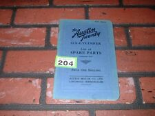GENUINE AUSTIN TWENTY 20 ILLUSTRATED SPARE PARTS BOOK.1931