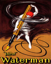 LUXURY FOUNTAIN PEN IDEAL WATERMAN WRITING 8X10 VINTAGE POSTER REPRO FREE S/H