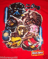 ANGRY BIRDS STAR WARS T SHIRT SZ 18 DARTH VADER C3PO LUKE LEA GUC