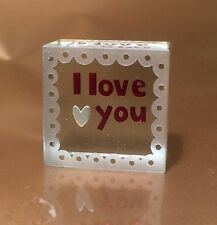 Spaceform I Love You Glass Token Romantic Love Gifts Idea for Her & Him Men 1255