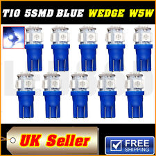 10X BLUE W5W T10 501 LED SIDE LIGHT / INTERIOR / NUMBER PLATE BULB 5 SMD NEW UK
