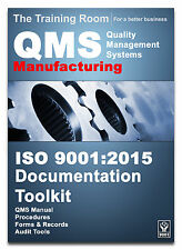 ISO 9001:2015 Quality Manual and Full Documentation for Manufacturing Companies