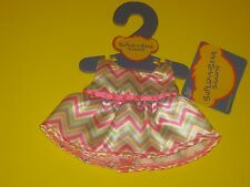 New Build-A-Bear SMALLFRYS ZIG ZAG CHEVRON EASTER SPRING DRESS Outfit Buddies