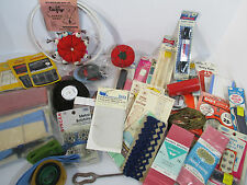 Sewing Notions Vtg Dritz Zippers Pin Cushion Singer Machine Needles Lot of 41