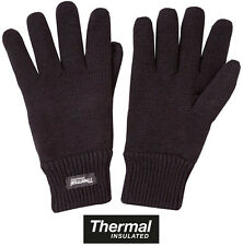 Mens Army Military Thermal Extreme Winter Knitted Gloves Warm Black Green New