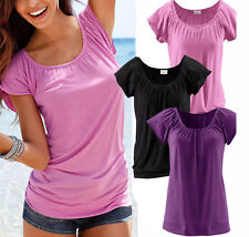 Fashion Women Summer Loose Top Short Sleeve Tops Ladies Casual Blouse T-Shirt