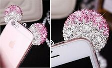 for iPhone 6 / 6S - Pink Diamond Rhinestone Minnie Mouse Ears Rubber Gummy Case