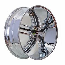 4 GWG WHEELS 20 inch Chrome Black SPADE Rims fits 5X112 ET38 MERCEDES-BENZ S500