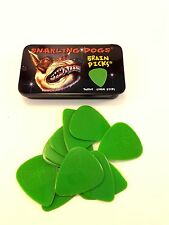 Snarling Dog Guitar Picks Tin  Brain Picks  12 Picks With Tin  .53mm  Green