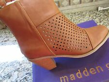 NEW STEVE MADDEN MADDEN GIRL NITTE COGNAC ANKLE BOOTIES BOOTS WOMENS 7.5 FREE SP