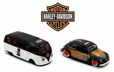 Maisto 1:64 HARLEY-DAVIDSON CUSTOM VOLKSWAGEN ASSORTMENT Diecast Car Set