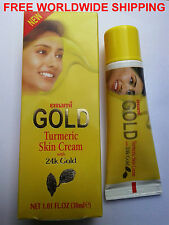 Emami GOLD Turmeric Skin Lightening Cream 24K GOLD 30ml Herbs 100%PositiveSeller