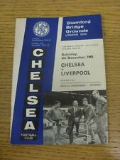 04/12/1965 Chelsea v Liverpool  (foxing). Condition: We aspire to inspect all of