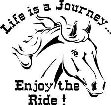life is a Journey Enjoy the Ride ! sticker (available in several vinyl colors)