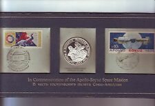 1975 Commemoration Of Apollo-Soyuz Space Mission Sterling Silver Medallion M-493