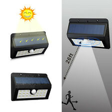 20 LED Solar Power PIR Motion Sensor Wall Lamp Outdoor Garden Waterproof Light