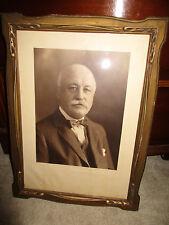 Vintage 1930s CARVED ART DECO LARGE Wood Picture Frame Ornate POLITICIAN PHOTO