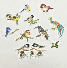 10 Embroidery Birds Iron Sew On Patch Badge Embroidered Fabric Trim Applique DIY