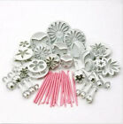 47pcs Sugarcraft Cake Decorating Fondant Cutter Mould Icing Plunger Tools Mold