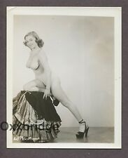 Stacked Girl High Heels Sexy Shoes1950 ORIGINAL VINTAGE NUDE PINUP PHOTO B743