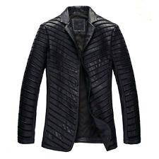 Custom Tailor Made All Size Men's Designer Lamb/Sheep skin Leather Blazer