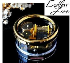 Gorgerous Circle in Gold Wind Up Music Box : Endless Love