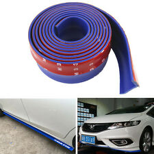 "Blue 98""Car SUV Front Bumper Lip Splitter Rubber Chin Spoiler Body Kit Protector"