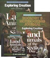 Apologia Zoology 3: Land Animals SET-Textbook, Notebooking Journal, & MP3 CD