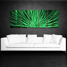 Metal Wall Art Modern Contemporary Abstract Sculpture Green Painting Home Decor
