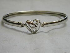 Clogau Silver & Rose Welsh Gold Diamond Eternal Love Bangle RRP £199.00