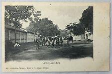 early 1900s Antique Postcard Saigon Vietnam Le Sechage du Cafe