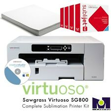 Sawgrass Dye Sublimation Printer Virtuoso SG 800 w/ InkSet and 100 Sheets