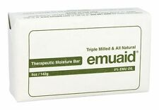 Emuaid Therapeutic Moisture Bar Soap 5 oz. 5% Emu Oil Triple Milled &All Natural
