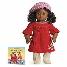 American Girl BT BITTY TWIN FALL FLOWERS DRESS & Book for Baby Dolls Boots NEW