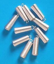 20 silver plated large coil ends for thong/cord, findings for jewellery making