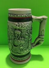 Vintage Avon Collectible Locomotive Train Beer Stein Made In Brazil ��