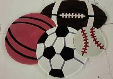 "Sports shape kids rug 32""x45"" Novelty Rug Football Baseball Basketball Soccer"