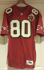 Vtg 1996 * Jerry Rice * 49ERS 50th wilson authentic JERSEY, signed, size 48
