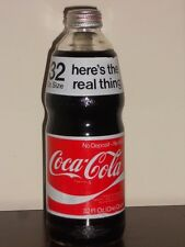 Rare FULL short run PAINT label 32 oz Coca Cola bottle W/cap 1974 LARGE MOUTH B
